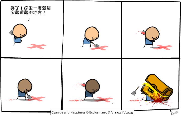 Cyanide & Happiness #1869:宝藏