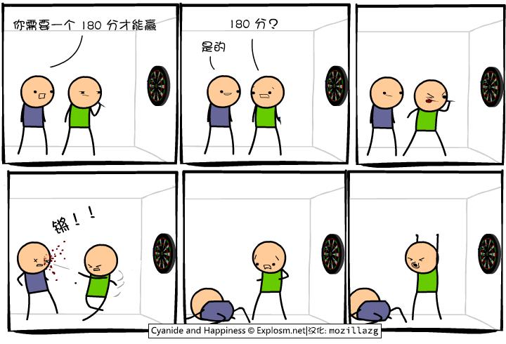Cyanide & Happiness #2983:飞镖
