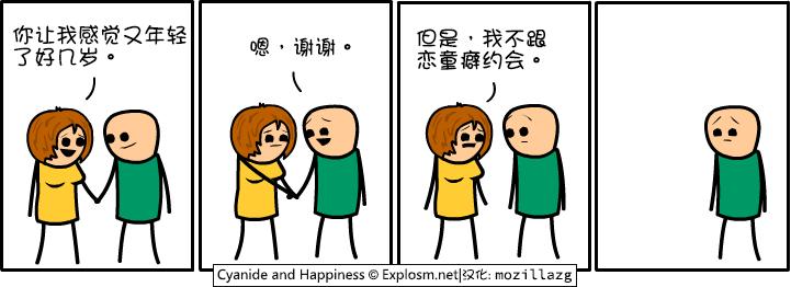 Cyanide & Happiness #3051:你让我感觉年轻了