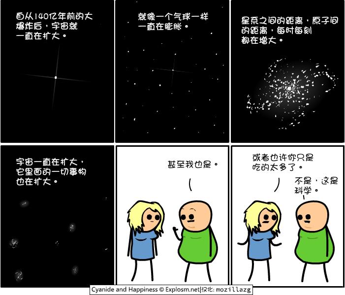 Cyanide & Happiness #3377:宇宙膨胀