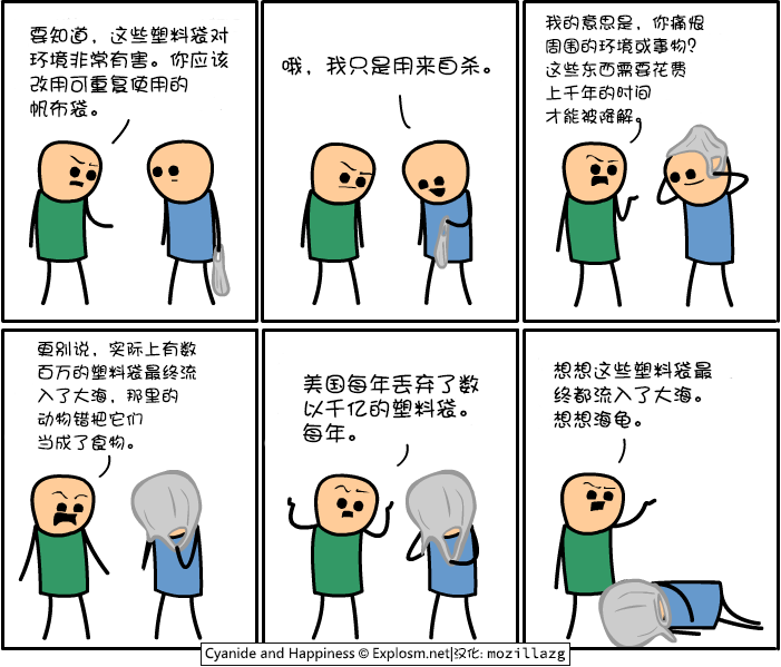 Cyanide & Happiness #3598:塑料袋