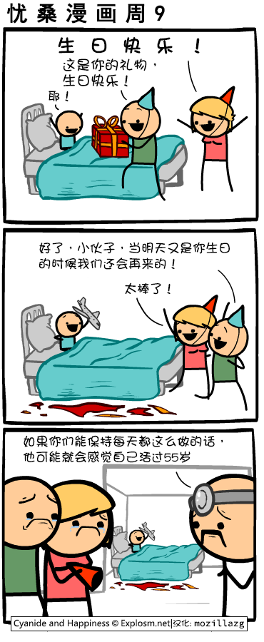 Cyanide & Happiness #4001:生日